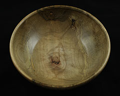 red maple carved bowl